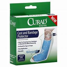 curad cast and bandage protector waterproof leg 2 covers