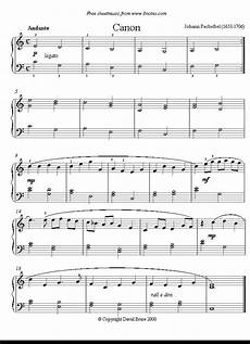 pachelbel canon in d easy version sheet music for
