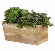 nib ikea bjuron slant rectangular wood planter box w
