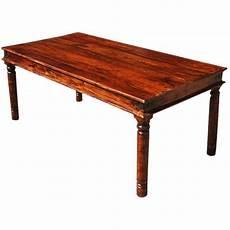 grogan rustic solid wood rectangular dining table