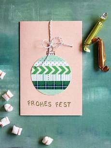 Weihnachtskarten Selbst Basteln - 5 kreative ideen weihnachtskarten selber basteln