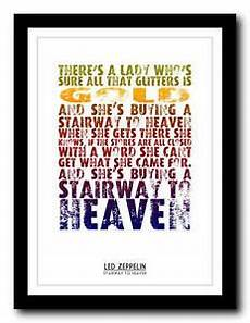 led zeppelin stairway to heaven testo led zeppelin stairway to heaven lyric poster