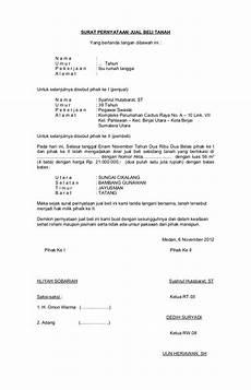 contoh surat jual beli tanah