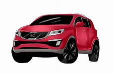 2014 kia car suv minivan line up cartoonized vehicle