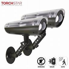 torchstar 2 led solar security light with motion sensor outdoor wireless solar wall lights