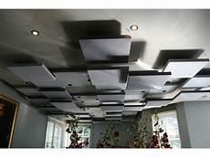 plafond suspendu acoustique plaque acoustique plafond maison travaux