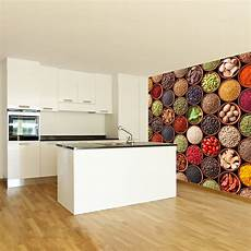 colourful spices wall mural food photo wallpaper kitchen