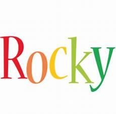 rocky colours rocky logo name logo generator smoothie summer