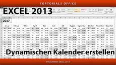 dynamischen kalender erstellen excel