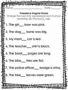 possessive singular nouns worksheet by first grade faves tpt