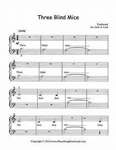 three blind mice free sheet music at piano song download free piano sheet music in 2019