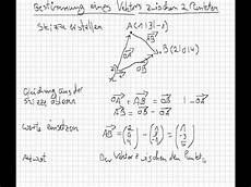 bestimmung eines vektors zwischen 2 punkten marco