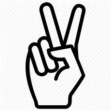 Expression Fingers Gesture Peace Two Icon
