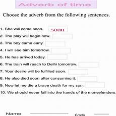 time adverbs worksheets 2909 adverb of time
