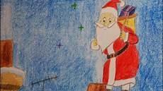 Malvorlagen Weihnachtsmann Haus Weihnachtsmann Auf Dach Vom Haus Malen Draw Santa Claus