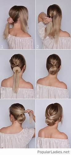 Bun Anleitung - amazing low bun tutorial medium hair styles