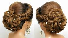 bridal hairstyle for hair wedding updo tutorial