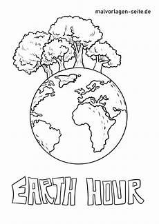 Malvorlagen Umweltschutz Aufheben Malvorlage Earth Hour In 2020 Malvorlagen Vorlagen Und