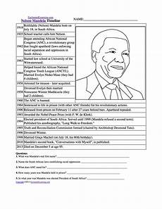 grade 4 history worksheets south africa nelson mandela enchantedlearning com