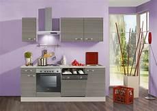 Küche Komplett Mit E Geräten - optifit k 252 chenzeile mit e ger 228 ten 187 vigo breite 210 cm