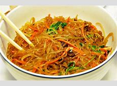 chop chae  korean mixed vegetables with beef and noodles_image