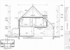 plan maison en coupe