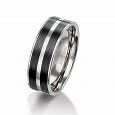 mens 18ct white gold carbon fibre patterned 7mm wedding ring