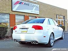 awe track edition exhaust for audi b7 s4 polished silver tips