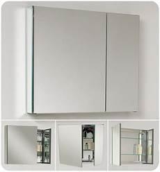 spiegelschrank in wand eingelassen fresca fmc8090 mirror 30 quot door frameless medicine