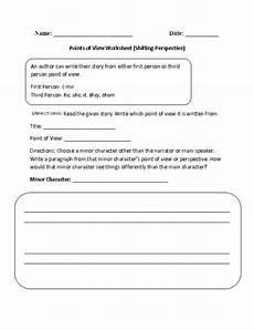 grammar worksheets consistent point of view 24725 point of view worksheet shifting perspective part 1 intermediate point of view teaching