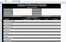 employee performance evaluation form xls free excel spreadsheets and templates