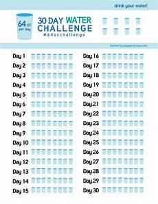 30 Day Water Challenge 64ozchallenge Pepper Scraps
