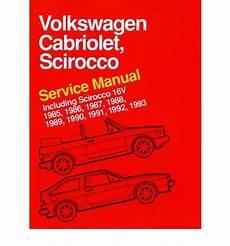 online auto repair manual 1987 volkswagen cabriolet auto manual volkswagen cabriolet scirocco service manual 1985 1986 1987 1988 1989 1990 1991 1992