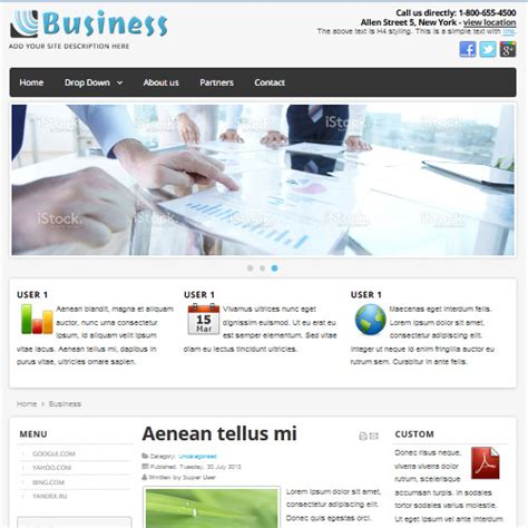 businees 2 joomla template download free business joomla template