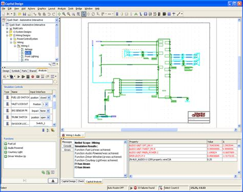 E Plan Electrical Drawing Image by Electrical Analysis Mentor Graphics