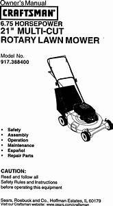 Craftsman 917388400 User Manual Rotary Mower Manuals And