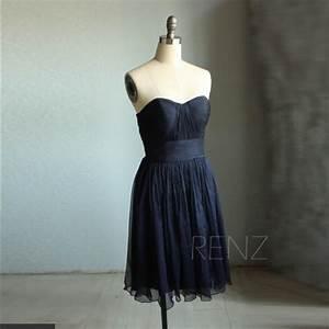 2015 Navy Blue Bridesmaid Dress Strapless, Sweetheart ...