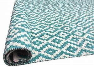 Tapis D Extérieur Plastique : tapis bleu turquoise tendance int rieur ext rieur green decore ~ Teatrodelosmanantiales.com Idées de Décoration
