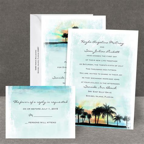 tropical watercolors    invitation invitations