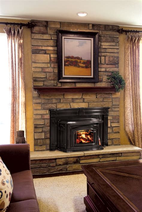 fireplaces for wood burners ideas beautiful fireplace insert with custom surround we