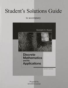 Student U2019s Solutions Guide To Accompany Discrete