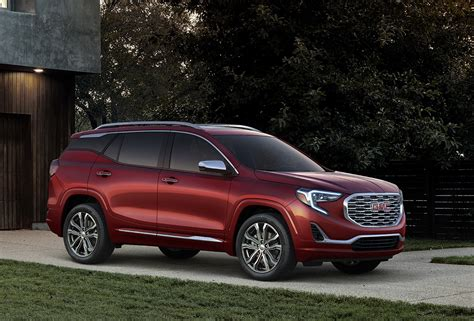all new 2018 all new 2018 gmc terrain debuts with bolder design