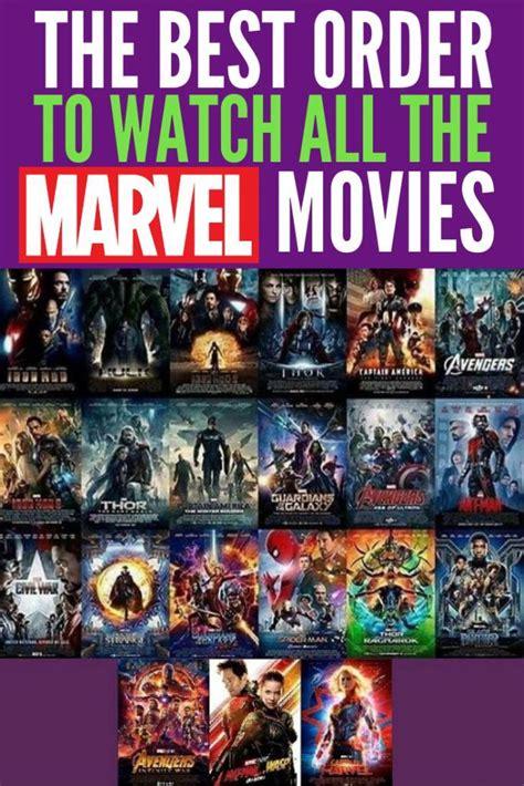 lists    marvel movies