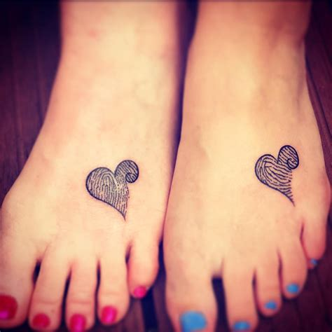 extremely adorable mother daughter tattoos