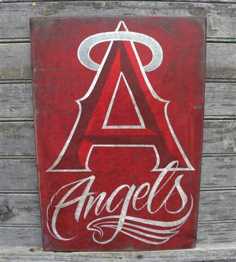 anaheim angels baseball sign originalhand painted art