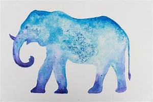 Thai Elephant Animal Original Art Painting Watercolor ...