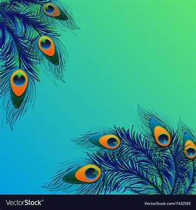 Background, Design, With, Peacock, Feathers, Royalty, Free, Vector