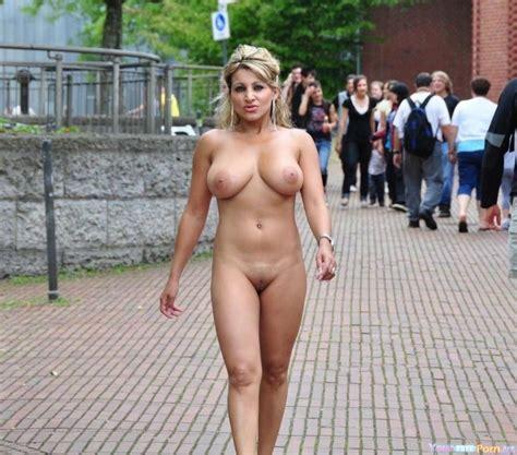 Blonde Milf With Huge Tits Having A Nude Walk Unashamed Luscious