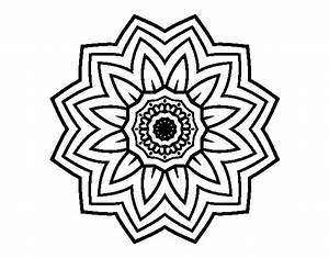Flower mandala of sunflower coloring page - Coloringcrew.com