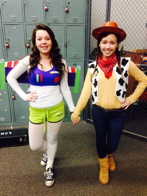 Diy buzz lightyear and woody costumes! Dynamic duo day for homecoming week. Got our Halloween ...